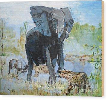 It's A Jungle Wood Print by Judy Kay
