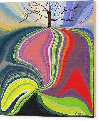 Its A Tree's Life Wood Print by Renate Nadi Wesley