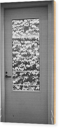 Ivy Door Wood Print by Anna Villarreal Garbis
