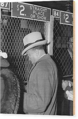 J. Edgar Hoover Placing A Bet Wood Print by Everett