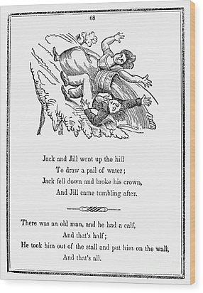 Jack And Jill, 1833 Wood Print by Granger