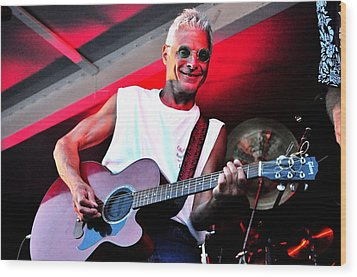 Jack Bordo With Old Friends Band Reunion 2010 Wood Print by Mary Frances
