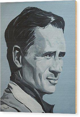Jack Kerouac Wood Print