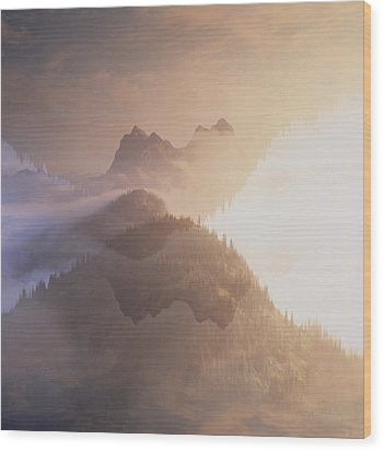 Jack Kerouac View Of Mount Hozomeen Wood Print by David Pluth