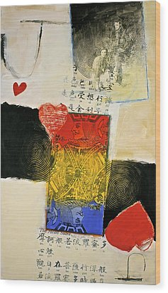 Wood Print featuring the painting Jack Of Hearts 46-52 by Cliff Spohn