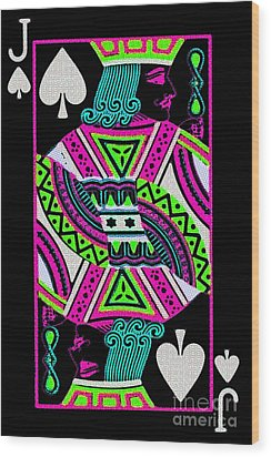 Jack Of Spades Wood Print by Wingsdomain Art and Photography