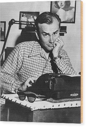 Jack Paar 1918-2004, American Radio Wood Print by Everett