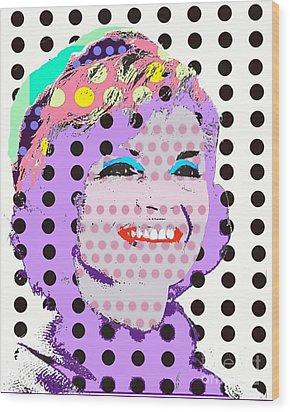 Jackie O Wood Print by Ricky Sencion