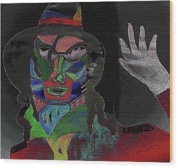Jacko Wood Print by Karen Elzinga