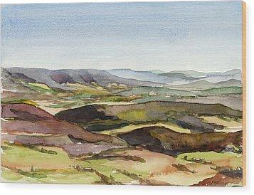 Jacks Mountain View Wood Print by Jeff Mathison