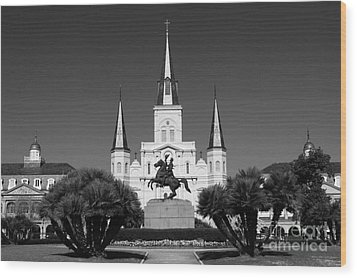 Wood Print featuring the photograph Jackson Square by Leslie Leda
