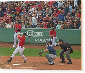 Jacoby Ellsbury Wood Print by Juergen Roth