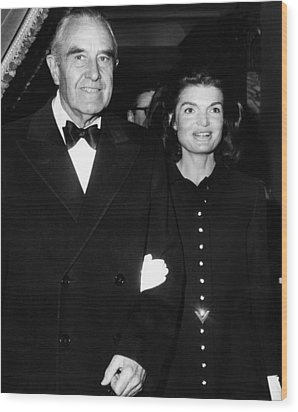 Jacqueline Kennedy In Her First Public Wood Print by Everett