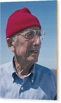Jacques-yves Cousteau, French Diver Wood Print by Alexis Rosenfeld