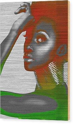Jada Wood Print by Naxart Studio