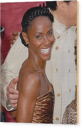 Jada Pinkett Smith At Arrivals For The Wood Print by Everett