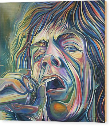 Jagger Wood Print by Redlime Art