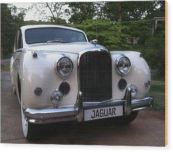 Wood Print featuring the photograph Jaguar 1959 by Elizabeth Coats