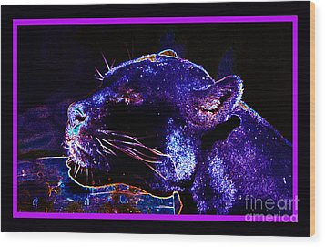 Jaguar Dreaming Your Tomorrow Wood Print by Susanne Still