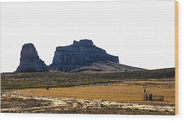 Jailhouse Rock And Courthouse Rock Wood Print by Edward Peterson
