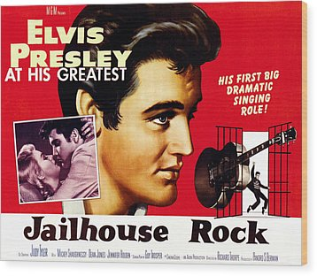 Jailhouse Rock, Elvis Presley, 1957 Wood Print by Everett
