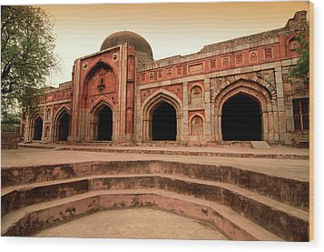 Jamali Kamali Mosque And Tomb Wood Print by Poonamparihar.com