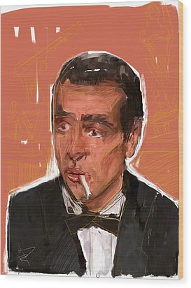 James Bond Wood Print by Russell Pierce