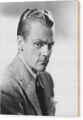 James Cagney, Portrait Wood Print by Everett