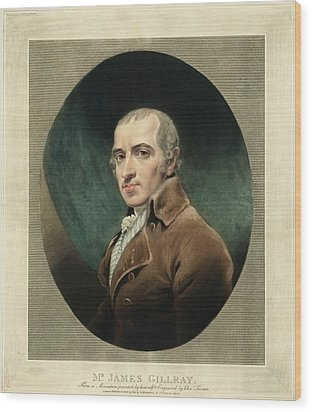 James Gillray, British Caricaturist Wood Print by Miriam And Ira D. Wallach Division Of Art, Prints And Photographsnew York Public Library