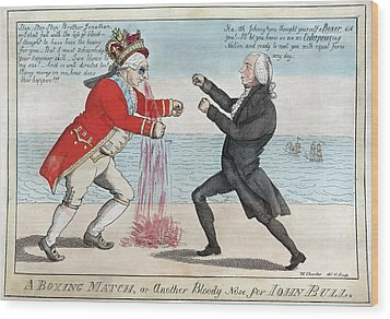 James Madison, A Boxing Match, Or Wood Print by Everett