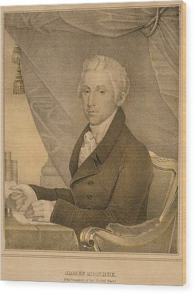 James Monroe Fifth President Wood Print by Everett
