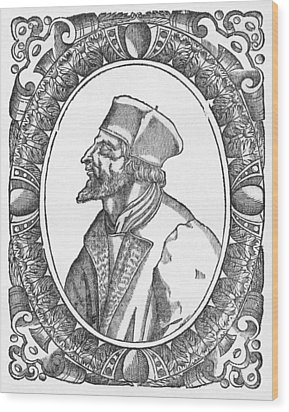 Jan Hus, Czech Religious Reformer Wood Print by Middle Temple Library