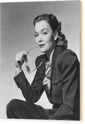 Jane Wyman, Warner Brothers, 1947 Wood Print by Everett