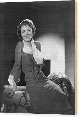 Janet Gaynor, Ca. 1933 Wood Print by Everett