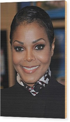 Janet Jackson At In-store Appearance Wood Print by Everett