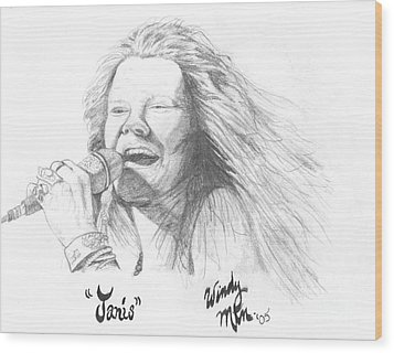 Janis Wood Print by Windy Mountain
