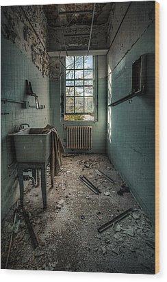 Janitors Closet Wood Print by Gary Heller