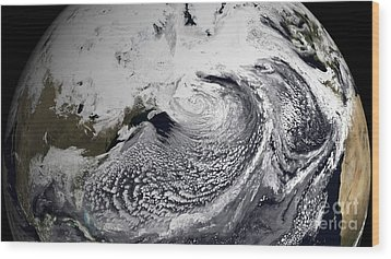 January 2, 2009 - Cloud Simulation Wood Print by Stocktrek Images
