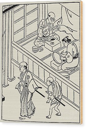 Japan: Samurai, 1700 Wood Print by Granger