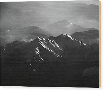 Japanese Alps Wood Print by José Rentería Cobos photography