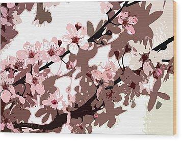 Japanese Blossom  Wood Print by Sarah O Toole