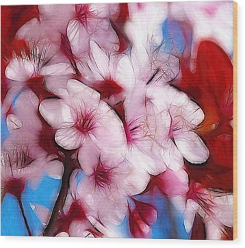 Japanese Flower Wood Print by Steve K