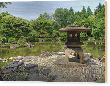 Japanese Garden -2 Wood Print by Tad Kanazaki