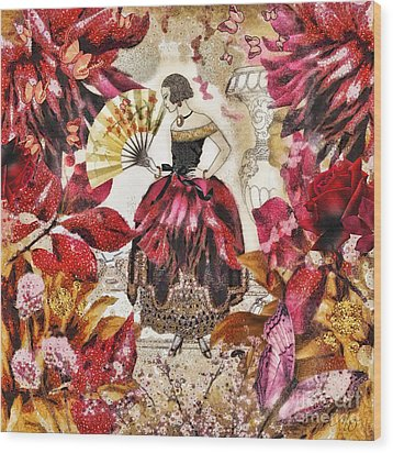 Jardin Des Papillons Wood Print by Mo T