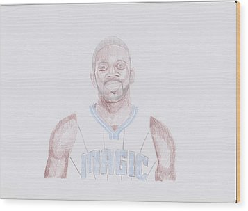 Jason Richardson Wood Print by Toni Jaso