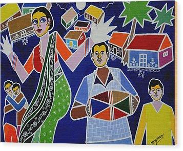 Jatara Wood Print by Johnson Moya