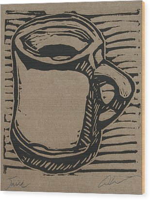 Wood Print featuring the drawing Java by William Cauthern