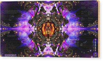 Javanese Stargate Wood Print by Chris Varthalamis