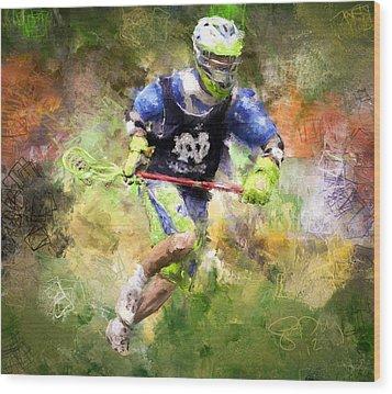 Jaxx Lacrosse 2 Wood Print by Scott Melby