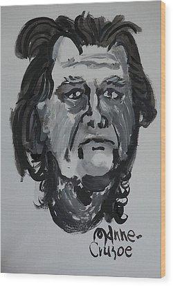 Jay - Self Wood Print by Jay Manne-Crusoe